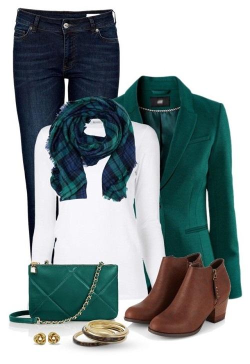 ترکیب رنگ سبز و سفید