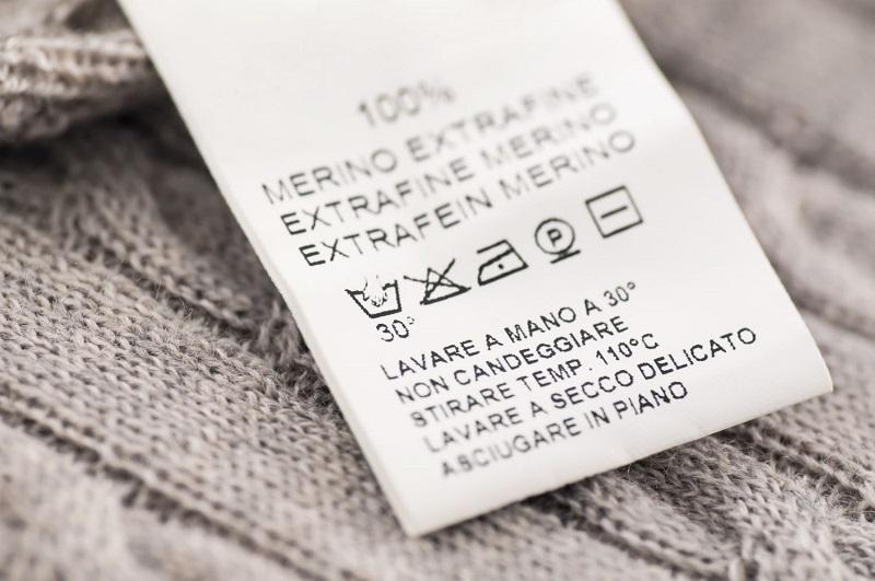 نشانه های روی برچسب لباس