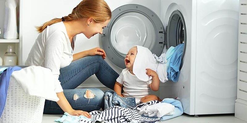 شستن لباس نوزاد با ماشین لباسشویی